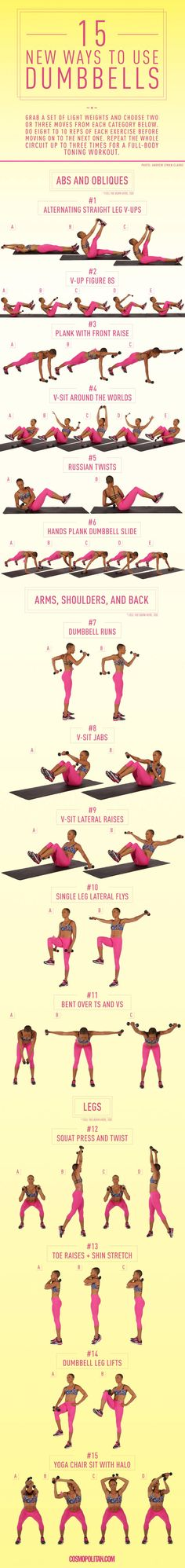 15 new ways to use Dumbbells | Cosmopolitan