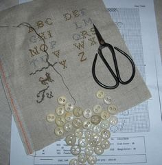 civil war buttons ... stitching today