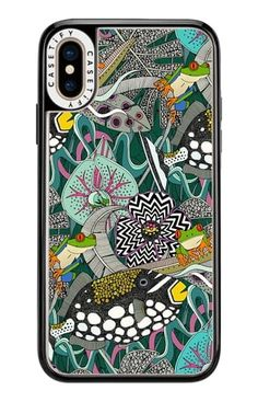 @casetify #tropical #surrealism #illustration #art #maximalist #animalier #fish #triggerfish #feathers #treefrog #frog #hibiscus #orchid #feather #waves #iphone #phonecase New Iphone, Iphone 8 Plus, Iphone Cases, Popular Artists, Hibiscus, Tech Accessories, Casetify, Orchid, Surrealism