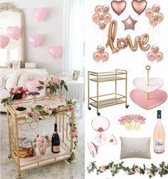 Valentine's Day Bar cart Bar Cart Styling, Bar Cart Decor, Balloon Arch, Balloons, Wine Cart, Fashionable Hostess, Al Fresco Dining, Valentine Decorations, Outdoor Dining