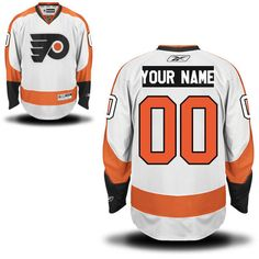 Reebok Philadelphia Flyers Men's Premier Away Custom Jersey - White - $159.99