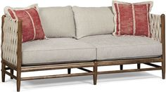 Shop Maynard Woven Side Sofa at Horchow, where you'll find new lower shipping on hundreds of home furnishings and gifts. Antique White Furniture, Cream Furniture, Home Decor Furniture, Sofa Furniture, Home Furnishings, Beige Couch, White Couches, High Quality Furniture, Outdoor Sofa