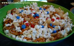 Going to a party for the 4th of July? These are fun and festive snacks...that the kids can help make!