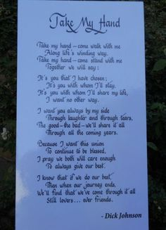 Trendy Wedding Vows To Husband Marriage Brides Sweets Ideas Wedding Verses, Wedding Quotes, Love Poems Wedding, Irish Wedding Blessing, Wedding Vows That Make You Cry, Wedding Ceremony Readings, Wedding Readings Poems, Amor Real, Love Quotes