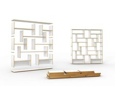 Libreria a giorno modulare in MDF HANIBAL by Tojo Möbel design FLOID Product Design