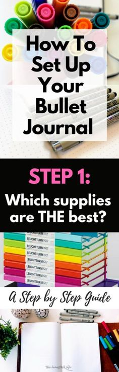 How To Set Up Your Bullet Journal: A Step By Step Guide {Step 1: Your Supply List} #bulletjournaldailylog #bulletjournal #bulletjournaling #bujo #bujojunkies #journal ##journaling #bulletjournaling