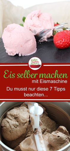 Making ice cream yourself with the ice cream maker is really easy. With the basic recipe and these 7 valuable tips, it will definitely work . Homemade Yogurt, Homemade Baby Foods, Homemade Vanilla, Baby Puree Recipes, Ice Cream Recipes, Baby Food Recipes, Best Ice Cream Maker, Chicken Baby Food, Freezing Baby Food