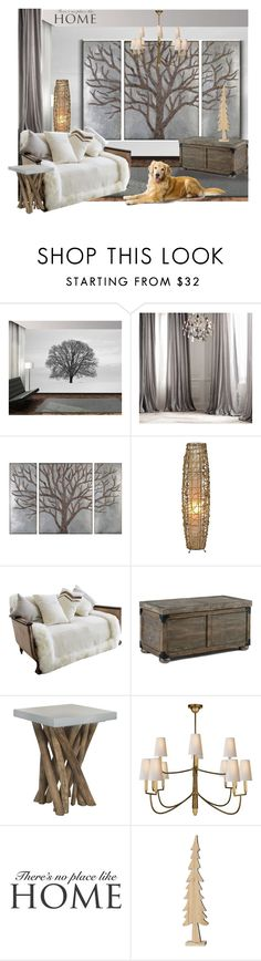 """Untitled #691"" by a-vigh on Polyvore featuring interior, interiors, interior design, thuis, home decor, interior decorating, Restoration Hardware, Pure Lana, Safavieh en Visual Comfort"