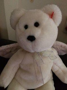Lovely Ty Plush Beanie Baby White Angel 😇 Herald  ddd35d219851