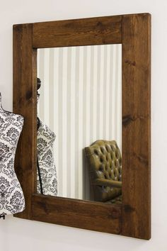 e58904f66ed Natural Dark Wood Framed Plymtree Mirror 122x91cm