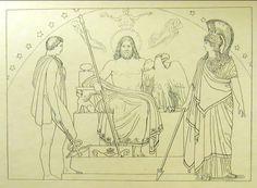 """Il Concilio degli Dei """" nè commuovere, Olimpio il cuor ti senti?""""( libro I, 87)."""
