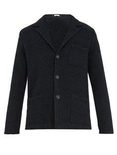 Massimo Alba Diamond-jacquard wool single-breasted blazer