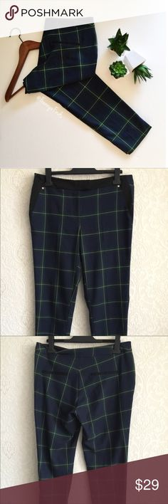 • LONDON FIND I • If interested in purchasing, review measurements carefully before buying. If unsure about anything, feel free to ask.    Detail: River Island Tartan • Trousers EUC • Gold Stud Detail • 2 Front Pockets • 2 Back Faux Pockets   Measurements: Waist 34 • Hips 38 • Inseam 28 • Length 37  Fabric: See Pic #4 River Island Pants
