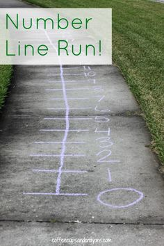Number Line Run Math counting and addition game for kids 9 Learning Activities for Outside (and a new After School Linky!)