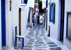 Village Street,Greek Isle of Cyclades  photo by danis