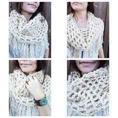 So cozy. So soft. Super chunky fringe scarf