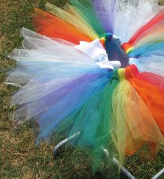 My Little Pony Rainbow Dash Boutique Tutu by jettyspagetti on Etsy, $20.00
