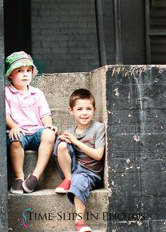 Time-Slips In Photos ~ Children's Photography warehouse sessions photo shoot on a loading dock in Chicago urban location