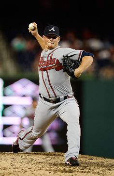 Craig Kimbrel #46 of the Atlanta Braves on August 7, 2013 in Washington, DC. (Photo by Patrick McDermott/Getty Images)