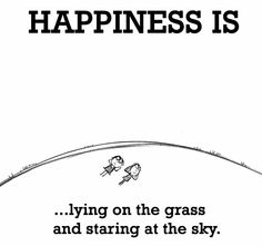 HAPPINESS IS...lying on the grass and staring at the sky.