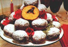Traditional Pre-Lenten Paczki (Pounchki, punchki) . . . Paczki - (pronounced poonch-kee) - Polish doughnut with fruit filling (prunes, raisins, or fruit jams) & covered with powdered or granulated sugar.