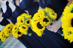 Dr Delphinium Wedding Sunflower Bouquets