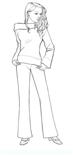 fashion_4 Teens and adults coloring pages