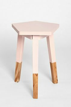 pink dipped side table from @Ashley Urban Outfitters