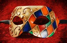These striking and handsome Harlequin masks from magical masquerade.The eye masks ensure's that you give off a fun loving vibe at your masquerade ball with their traditional design Venetian Masquerade Masks, Masquerade Ball, Musketeer Costume, Harlequin Mask, Jester Costume, Venice Mask, Decoupage, Carnival Masks, Beautiful Mask