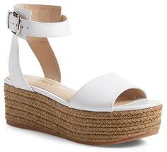 Women's Via Spiga 'Nemy' Platform Sandal, Size 7 M - White