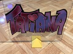 """Tatiana"" oil painting on glass"