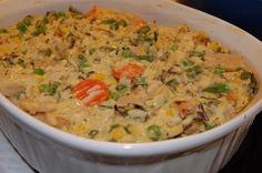 Csirkés, zőldséges rizs