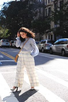 spring style, spring dress, wide leg trouser, check print, stripe top, petite style, petite dressing, petite blogger, the everyday editor, fashion blogger, whit ny, mr. larkin, phillip lim 3.1