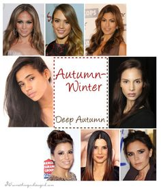 Deep Autumn seasonal color celebrities