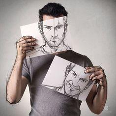 Quand la photo rencontre le dessin Pour laisser libre court à son imagination, Sébastien Del Grosso, artiste français, a réuni deux passions