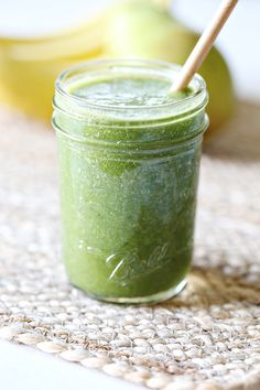 In an attempt to hop back on a healthy lifestyle, I've been starting my mornings with a green juice smoothie. It also makes me feel like a rockstar mom when the kids gobble up their kid version gre...