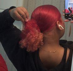 Black Girl Hair Colors, Cute Hair Colors, Hair Ponytail Styles, Curly Hair Styles, Natural Hair Styles, Dyed Natural Hair, Baddie Hairstyles, Braids For Black Hair, Dye My Hair