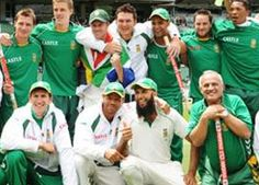 South Africa became the first side to be ranked No. 1 in all three formats of cricket. Hashim Amla inflicted another record-breaking hundred upon England with a majestic innings of 150 in the second one-day international in Southampton.