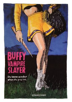 High quality Print of my illustration of one of the 1992 movie posters for Buffy The Vampire Slayer (the movie!) She is printed on 230gsm,