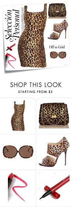"""""""Off The Grid Animal Print"""" by perezbarrios on Polyvore featuring Post-It, Tadashi Shoji, Chanel, Linda Farrow, Jimmy Choo and Lapcos"""