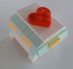Ring Box for Lego Wedding - Lego Themed Wedding Invitation and Other Decoration Ideas - EverAfterGuide Lego Wedding, Rainbow Wedding, Simple Wedding Invitations, Rustic Invitations, Order Of Wedding Ceremony, Lego Boxes, Lego Craft, Wedding Planning Guide, White Wedding Flowers