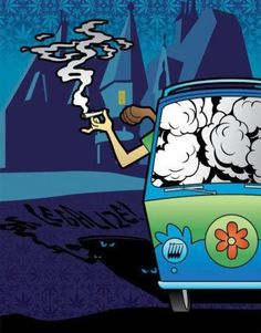 hot boxing the mystery machine
