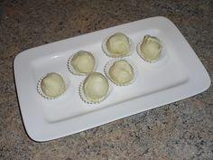 Orangentrüffel mit weißer Schokolade