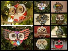 How to make a Recycled CD Owl - The Secret Moon Garden