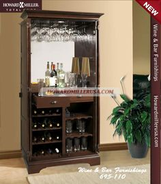 695110 Howard Miller Wine u0026 Bar Cabinet 24 bottles | Ridgeville & 30 best Wine Cabinets u0026 Bar Furniture images on Pinterest | Wine bar ...
