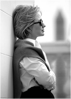 An example of how a great photographer can frame a subject & produce a great portrait. My favorite photo of Hillary.