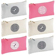 Personalised range of snack/treat bags, available in cream, grey and pink