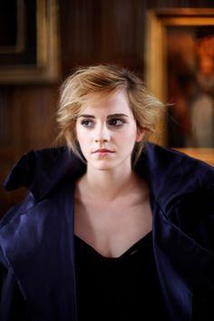 Emma Watson. She looks kind of sad here.