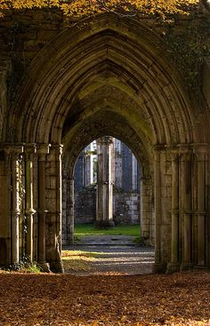 Arches in the abbey at Margam Park, South Wales (by Andy39Smith).