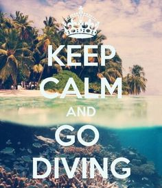 Diving - Keep Calm and Go Diving. Love this poster!! ♥ Do You Need More Money…